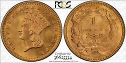 1889 Pcgs Ms67 Gold Dollar 1 Gold Shield Certified