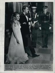 1971 Press Photo Tricia Nixon And Edward Cox At The White House