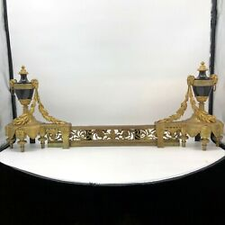 Pair Of 19th Century Antique French Louis Xv Style Chenets
