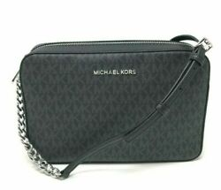 Michael Kors Jet Set Item Large East West Crossbody Handbag Clutch Black $298 $90.00