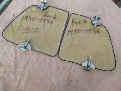 1935-1936 Nos Ford Casco Accessory Wind Wings For A Closed Car