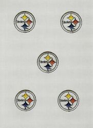 5 Small Nfl Pittsburgh Steelers Iron-on Patches.mint.fast Shipping. Big Ben