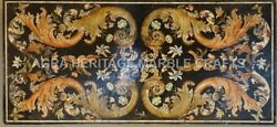 5and039x3and039 Marvelous Marble Top Dining Table Furniture Scagliola Inlay Decor H4831