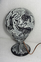 8 Marble Lamp Handmade Elephant Lion Engraving Design Electric Table Lamps Art