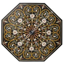 42 Marble Dining Center Table Top Mosaic Handicraft Inlay Furniture Decor H5140
