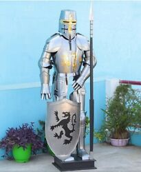 Medieval Body Armor Suit Knight Wearable Helmet Costume Larp Collectible Item