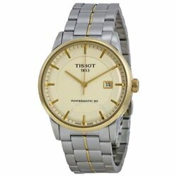 New Tissot Powermatic80 Ivory Dial Gold Tone T0864072226100 Authorized Dealer