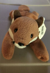 Ty Beanie Babies Sly The Fox 1996 W/ Errors Retired And Rare Style 4115 Pvc