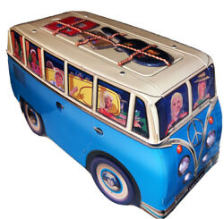 Silver Crane Collectible Vw Peace Camper Tin Biscuit Container.     Y