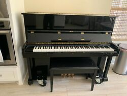 Stand Up Piano Samick Polished Ebony Lightly Used 10 Years Comes With Seat.