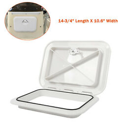 Marine Boat Deck Access Hatch And Lid W/ Lock 14.75x10.6 - White 270mm X 375mm