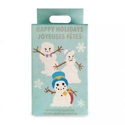 Disney Parks Happy Holidays Snowman Characters Mystery Box 2 Pin Pack Sealed NEW $17.97