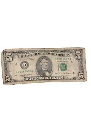 1995 Series 5 Dollar Bill Rare It Will Be Worth More Later On So Buy It.