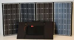 Rv Kit 420w Folding Etfe Solar Panels W/ Mppt Charge Controller + Accessories