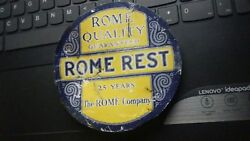 Original Vintage Metal Sign The Rome Company-bankrupted In 1935-rome, New York
