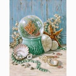 Sea Shells Corals Diamond Painting Cute Embroidery Design House Wall Decorations