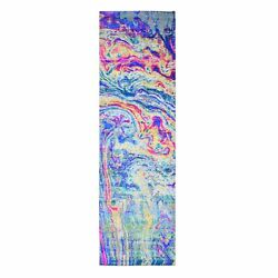 3and039x10and039 Sari Silk - Text Wool The Lava Design Wide Runner Hand Knotted Rug R59502
