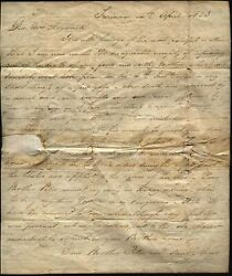 1823 Surinam To Uk Gravesend/ship Letter - Capt Isaac Hayward To His Daughter