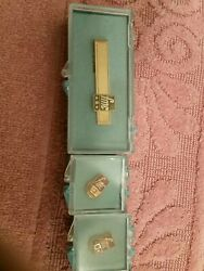 Fmc 2 Pins 1 Tie Clasp Vintage For Employee Service Award Food Machinery Corpora