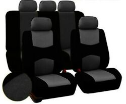 Universal Cloth Car Or Suv Seat Covers Full Set Front And Rear Seats 9 Piece