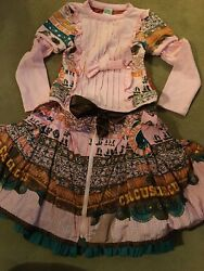 Age 3/4 Andldquosave The Queenandrdquo Circus Circus Skirt And Top Outrageously Unusual Andpound150