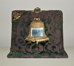 19th C. Victorian Photo Album And Inkwell Lap Desk Liberty Bell