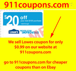 Not Lowes 10 Off 1coupon - 1x Lowes 20 Off 100 Instore/online 1coupon