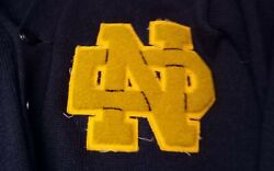 Vintage Squared 1949 Notre Dame Monogram Letter Sweater All Intact No Holes