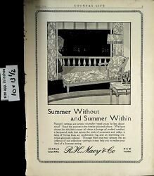 1919 Summer Without Summer Within Furniture Rh Macy Co Vintage Print Ad 6033