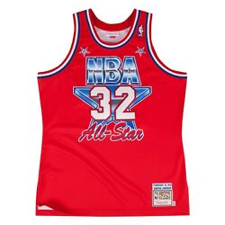 Los Angeles Lakers Magic Johnson Mitchell And Ness Red 1991 Asg Authentic Jersey