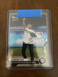 Historic 2020 Dr. Anthony Fauci - Mlb Topps Now Card 2 Nationals And Yankees