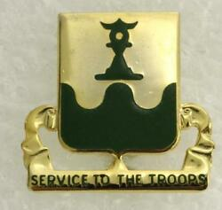 Vintage Military Us Dui Pin 519th Military Battalion Service To The Troops