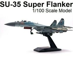 1100 Diecast Russian Airforce Su 35 Super Flanker Aircraft Collectors Model
