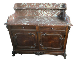 Antique Louis Xv Buffet 1700s Original Marble Top. Ask About Shipping