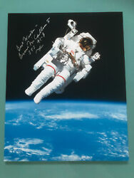 Bruce Mccandless Signed Photo First Untethered Space Walk Mmu Autograph Mint