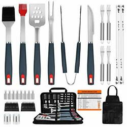 Bbq Grill Accessories Heavy Duty Grill Utensils 31 Pcs Set Extra Thick Stainles