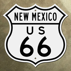 New Mexico Us Route 66 Highway Marker Sign Mother Road Albuquerque Santa Fe 1949