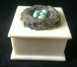 Ibis And Orchid Boxes Of Light Tealight Candle Holder Trinket Box 2.5 Birdnest
