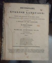 A History Of English Dictionary Volume I 1820 Very Old Rare Antique Book