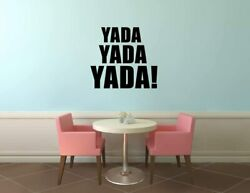 Yada Yada Seinfeld Tv Show Quote Vinyl Art Stickers For Home Room Walls Decals