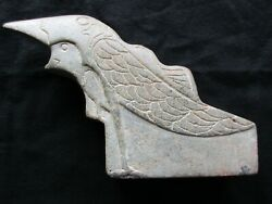Native American Pipe Bowl, Hand Carved Stone Raven Effigy,  Atl-112005068
