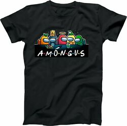 AMONG US Imposter? Friends Logo Funny Video Game Friends Custom T SHIRT