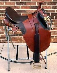 Australian Saddle 18quot; Trail Stock Saddle with Horn