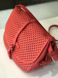 Louis Vuitton Coral Flore Perforated Saumur Bag Authentic Pre Owned