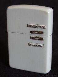 Rare 1940s-50s Figural Zippo Lighter - Westinghouse Frost Free Refrigerator