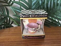 Rare Mary Engelbreit Collectible Miniature Cup And Saucer Figurine
