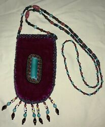 Native American Southwest Style Beaded Medicine Pouch