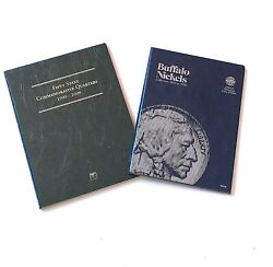 Fifty State Commemorative Quarters 1999-2008 And Buffalo Nickels 1913-1938 Booklet