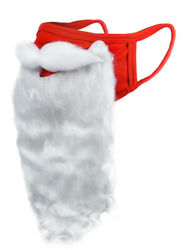 Holiday Santa Beard Face Mask Costume for Adults for Christmas 2020 One Size
