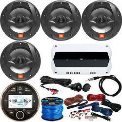 Jbl275 Receiver, 4x 8 Speakers, Amp+wire Kit, Wire, Antenna, Aux Mount